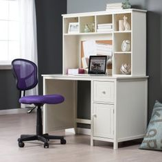 computer desk for small bedroom - Computer Desk for Small Bedroom - Best Home Office Desk, desk ideas for small rooms laphotos White Desk With Hutch, Computer Desk With Hutch, Desk With Drawers, Corner Desk, Computer Desks, Small Computer, Homework Desk, Kids Computer, Small Corner