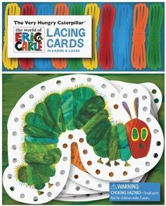 The Very Hungry Caterpillar Lacing Cards [With 10 Laces] 25 €