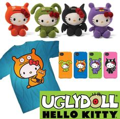 If It's Hip, It's Here: Hello Ugly! Hello Kitty X Uglydoll Make Their Debut At SDCC. The Items and Prices.