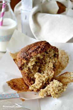 Manzana&Canela: Muffins de plátano y avena, sanos y deliciosos.