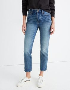 Rigid Stovepipe Jeans in Portsmouth Wash Portsmouth, Preppy Style, Southern Style, Capsule Wardrobe, Madewell, Mom Jeans, Denim, Lady, Cotton