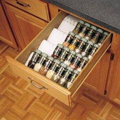 Keep spices organized and out of sight.