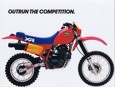 Honda XR350R and XR500R (1984) ad. (from Tony Blazier - Flickr)