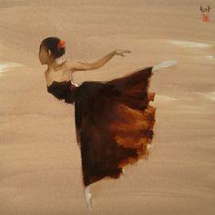Arte de la gente de Vietnam: bailarina de Nguyen Thanh Binh