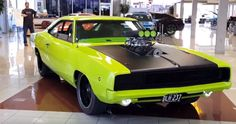 blown hemi powered 1968 dodge charger sublime green