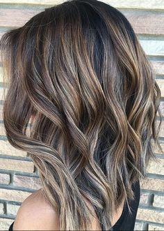 amazing – ashy brunette highlights