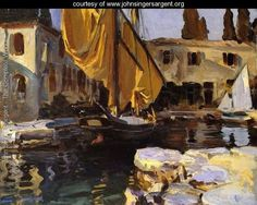 Boat With The Golden Sail  San Vigilio - John Singer Sargent - www.johnsingersargent.org