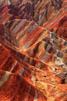 Parque geológico de Zhangye Danxia, en Gansu, China