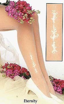 Bridal Hosiery Wedding Style Stockings Thigh Highs Ivory & White Eternity #Unbranded #Stockings