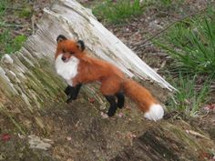 Needle Felted Animal / Fox / Original Artist by GourmetFelted