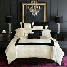 Black & Gold Accent Vintage Bedroom Designs