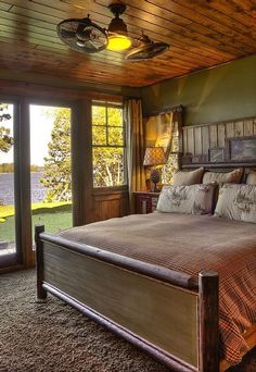 rustic bedroom wall paint color ideas | cabin paint colors | Interior Paint Color for Log Cabin ...