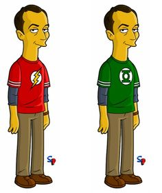 I freaking love Big Bang Theory AND The Simpsons... so you can imagine my excitement when I saw this! lol