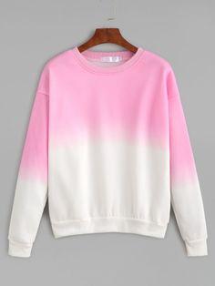 Ombre Drop Shoulder Sweatshirt