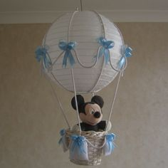 Minnie/Mickey Mouse in a Hot Air Balloon Nursery by MyBabyBootik, $65.00