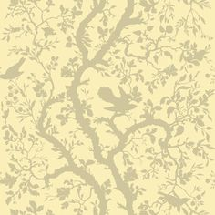 Timorous Beasties Fabric - Birdbranch (I'm just thinking this would be perfect for a Sleeping Beauty themed girl's room)