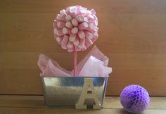 DIY little candy tree. Tutorial maceta con nubes. Chuches con un toque Shabby Chic.