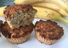 Banános zabpelyhes muffin | Molnár Brigitta receptje - Cookpad receptek Meatloaf, Banana Bread, Muffins, Paleo, Food And Drink, Gluten Free, Breakfast, Healthy, Desserts