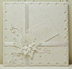 min rosa krusedull: Hvitt på hvitt julekort