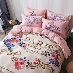 romantica paris eiffel themed 100 cotton exclusive luxury special design duvet quilt cover set coffee color queen double pinterest cotton