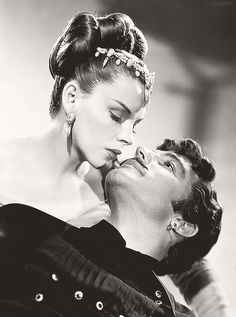 """Judy Garland with Gene Kelly for """"The Pirate"""""""