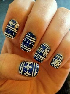 Navy blue and white are awesome for Christmas