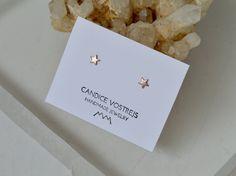 14k Gold Sterling Silver Crescents 5mm Rose Gold Filled Moon Crescent Stud Earrings Crescent Stud Earrings Gold Filled Gold Filled
