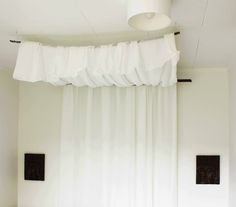 Easy Budget Friendly DIY romantic bed canopy Girl Curtains, Valance Curtains, Romantic Girl, Canopy, Master Bedroom, Easy Budget, Diy Projects, Home Decor, Master Suite