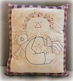 Primitive Patriotic Raggedy Annie  by ScrapbookingCottage on Etsy, $25.00
