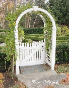 Garden Gate Arbors Designs arbor with gate Arched Arbor I Actually Think We Could Do This One