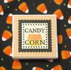 Candy Corn Miniature Picture Sign by RibbonwoodCottage on Etsy