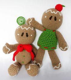 Gingerbread man PDF Pattern Amigurumi Crochet Pattern by Patanegra