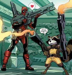 Deadpool & Rocket in Guardians Team-Up #10