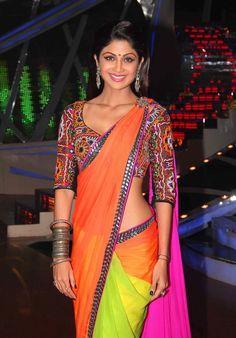 Trendy Navratri dandiya traditional wear Shilpa Shetty