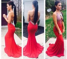dress red prom dresses prom dress long prom dresses red long prom dress red dress rhinestones backless prom dresses red prom gown red prom dress nice hot beautiful class jewels fashion clothes long silk dress long dress