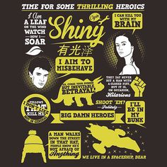 Firefly/Serenity quotes - eventually I'll get over Firefly's cancellation...but I wouldn't hold my breath for anytime soon.
