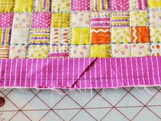 bijou lovely: Quilting Basics: Attaching Binding to a Quilt