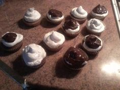 Cupcakes de merengue y chocolate
