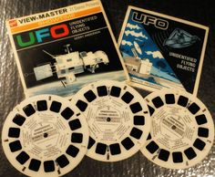 Viewmaster stereo photos from the 'UFO' TV series from From Wikipedia; UFO is a 1970 British television science fiction series about an alien invasion of Earth, created by Gerry Anderson and. Childhood Toys, Childhood Memories, Ufo Tv Series, Unidentified Flying Object, Science Fiction Series, Alien Invasion, View Master, 3d Photo, Classic Monsters