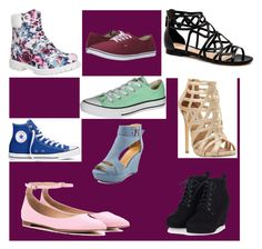 """Shoes galore"" by ains9 on Polyvore featuring beauty, Converse, Timberland, Vans, Steve Madden and Gianvito Rossi"