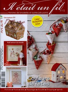 Fabric, Felt and Sewing - Patchwork, Embroidery, Cross-stitch, Applique and General sewing. Many small projects. Christmas Theme.