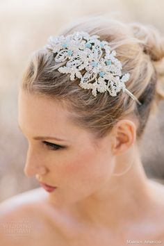 marisol aparicio bridal accessories fall 2013 encrusted headband something blue