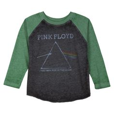 Pink Floyd Infant Toddler Boys' Long Sleeve Band Tee - Green/Gray