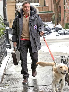 Stars and Their Pets   JIMMY FALLON   We can't think of a better way to calm your nerves! The freshly minted Tonight Show host walks pup Gary around N.Y.C. on Sunday before his big Monday night debut.