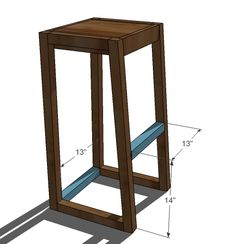 Ana White   Build a Simple Modern Bar Stools   Free and Easy DIY Project and Furniture Plans
