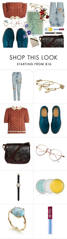 """""""The Secret Garden"""" by misfit5 on Polyvore featuring Topshop, Alex and Ani, RED Valentino, Dr. Martens, Clinique, Brandts Jewellery and Lime Crime"""
