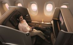 Singapore Airlines 777 First-Class Seat – by BMW Designworks USA - Craziest Airplane Cabins of the Future | Travel + Leisure