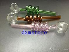 Smoking Pipes Online Sale Wholesale Glass Pipes Curved Glass Oil Burners Pipes With Different Colored Balancer Water Pipe Smoking Pipes 267596230 | Dhgate.Com