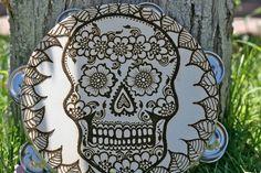Henna Tambourine Skull