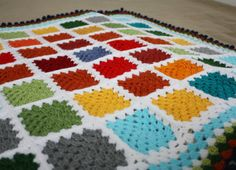 COLORFUL crocheted gender-neutral BABY by Walnuttreebuttons